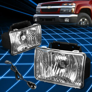 Chrome Clear Bumper Fog Light Lamp harness switch For 2004 2012 Colorado canyon