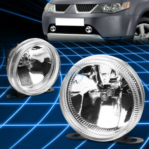 Chrome Clear Lens Universal Round Bumper Driving Fog Light lamp ajustable Mount