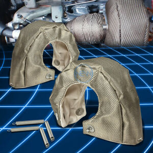 T4 Gt35 Gt37 Gt40 Gt45 Gt47 Twin Turbo Charger Titanium Heat Wrap Blanket Cover