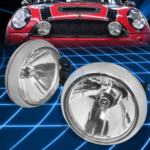 Chrome Clear Bumper Fog Light Lamp Bezel Switch For 2011 2016 Mini R56 F55 F56