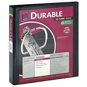 Avery Ez turn Ring 1 Durable Binder Colors May Vary 1 Ea pack Of 9