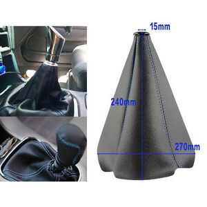 1x Leather Stitch Manual Auto Gear Shift Knob Shifter Boot Cover High Quality