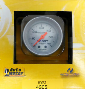 Auto Meter 4305 Ultra Lite Mechanical Boost Pressure Gauge 0 60 Psi 2 1 16