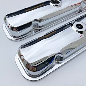 67 72 Gto Firebird Valve Covers Drippers 67 81 Pontiac 400 389 455 Chrome