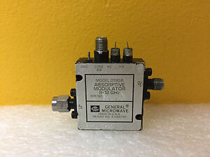 General Microwave D1956 opt 3 10 6 To 12 Ghz Sma m f Absorptive Modulator