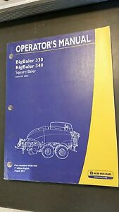 New Holland 330 340 Big Square Baler Operator s Manual 2012