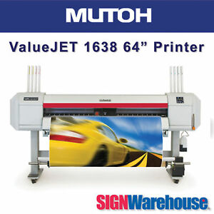 Mutoh Valuejet 1638x 64 Large Format Color Hp Roland Printer By Signwarehouse