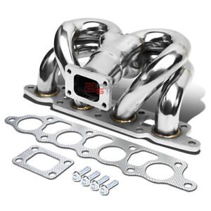 For 00 04 Ford Focus Zx T25 Ram Horn Stainless Steel Turbo Manifold Exhaust Kit