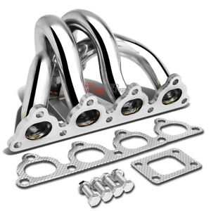 For 88 00 Honda D series D15 D16a T25 Stainless Steel Turbo Manifold Exhaust Kit