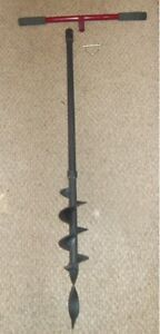 Earth ice Auger Post Hole Digger 4 D Auger 45 W detached H Bar