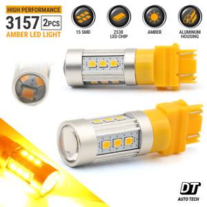50w 3157 Led Amber Yellow Front Turn Signal Parking Drl Side Marker Light Bulbs