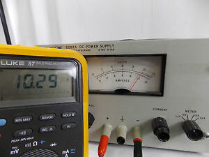 Hp Agilent Model 6282a Dc Power Supply 0 10v 0 10a tested
