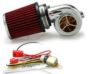 Electric Electrical Turbo Turbocharger Supercharger Kit Motorcycle Mower Atv