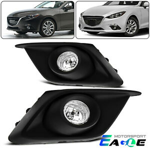 W Switch 2014 2016 Mazda 3 Bumper Fog Lights Pair Left Right Wiring Harness