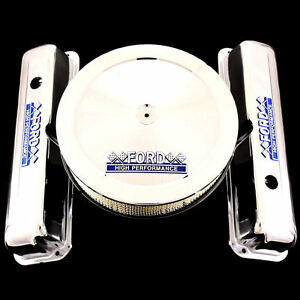 Chrome Valve Covers Air Cleaner Combo Fits Fe Ford 352 360 390 427 428