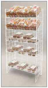 Floor Wire Shelf Display Rack Adjustable 5 Tier white