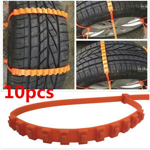 Universal 10pc Car Truck Snow Anti Skid Wheel Tire Chains Fit Tyre Width 175 295