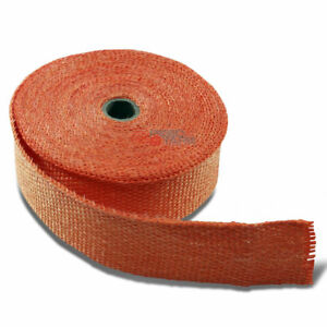 15m 2 Width Header Exhaust Turbo Intake Manifold Down Pipe Orange Heat Wrap Roll