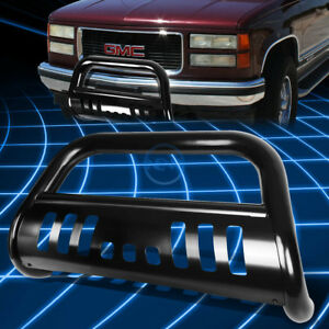 Black Front Bumper Bull Bar Grille Guard For 1988 2000 Silverado C K C10 Truck