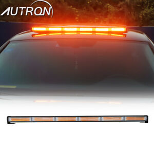 34 5 Led Cob Flash Traffic Advisor Emergency Beacon Warn Amber Strobe Light Bar