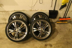 Chrome 19 Rims With Tires