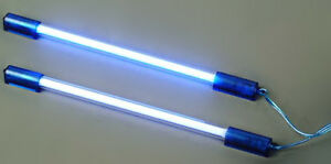 2x 6 12v Neon Light Rod Choice Of Red Blue Purple Or Green