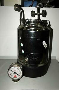 Alloy Products 316ss Stainless Steel Pressure Pot 10 Liter 130 Psi