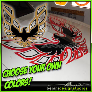 Pontiac Firebird Trans Am Hood Bird Custom Decal 45 X45 All Years 2 Color