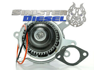 Sinister Diesel welded Water Pump For 2006 2010 Duramax 6 6l Lbz Lmm 6 6