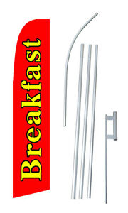 Breakfast Swooper Flag Bow Feather 15 Tall Complete Starter Kit