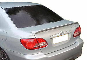 Painted Toyota Corolla Lip Factory Style Rear Wing Spoiler 2003 2008