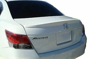 Unpainted Rear Wing Factory Style Lip Spoiler For A Honda Accord 4 Dr 2008 2012