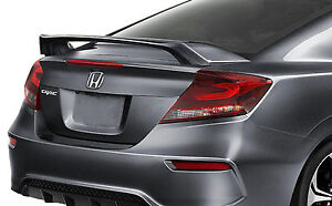 Unpainted Rear Wing Spoiler For A Honda Civic 2 door Si 2012 2016 Factory Style