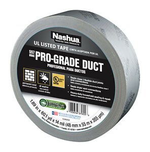 Nashua 557 Duct Tape 48mm X 55m 14 Mil Silver