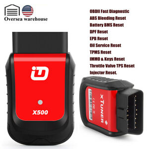Bluetooth Automotive Obd2 Scanner Full System Abs Airbag Oil Epb Dpf Reset Tool