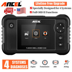 Ancel Fx2000 Obd2 Automotive Scanner Abs Airbag Transmission Engine Diagnostic
