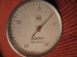 Tesatast 1div 0 01mm Swiss Made Jeweled Warranty