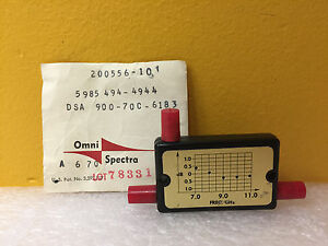 Omni spectra Sma 200556 10 7 To 11 Ghz 10 Db Sma f Directional Coupler New