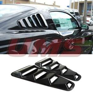 For 05 14 Ford Mustang 1 4 Quarter Black Side Window Louvers Scoop Cover Vent Gt