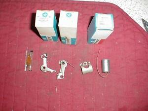 Nos Mopar 1963 5 Dual Point Distributor Points Sets Max Wedge 413