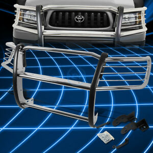 Chrome Brush Bumper Protector Grille Guard For 1998 2004 Toyota Tacoma Pickup