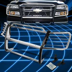 For 02 06 Chevy Avalanche 1500 Chrome Bumper Grill Protector Grille Brush Guard