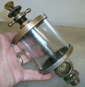 R j Thomas Pat Nov 6th 1883 Flat Sight Glass Oiler For Old Gas Engine