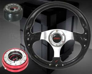 02 06 Acura Rsx Dc5 Type s Steering Wheel Hub Red Quick Release Combo 320mm