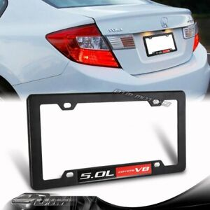 1x Ford Mustang Gt F150 5 0 5 0l Coyote V8 Engine License Plate Tag Frame Black
