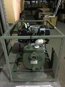 Us Military Diesel Water Pump Lombardini Centrifugal 65 Gpm Unused In Mfg Crate