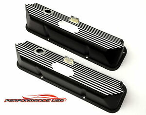 Brand New Ford Fe No Name Black Valve Covers