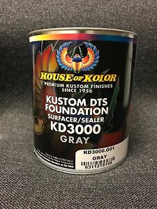 House Of Kolor Kd3000 Gray Kustom Dts Foundation Surfacer sealers gallon Only