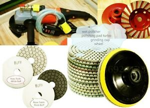Wet Polisher Stone Granite Aggregate Concrete Travertine Polishing Pad Grinding