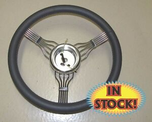 Lecarra 55306 Banjo 15 Steering Wheel W Integrated Adapter Dark Grey
